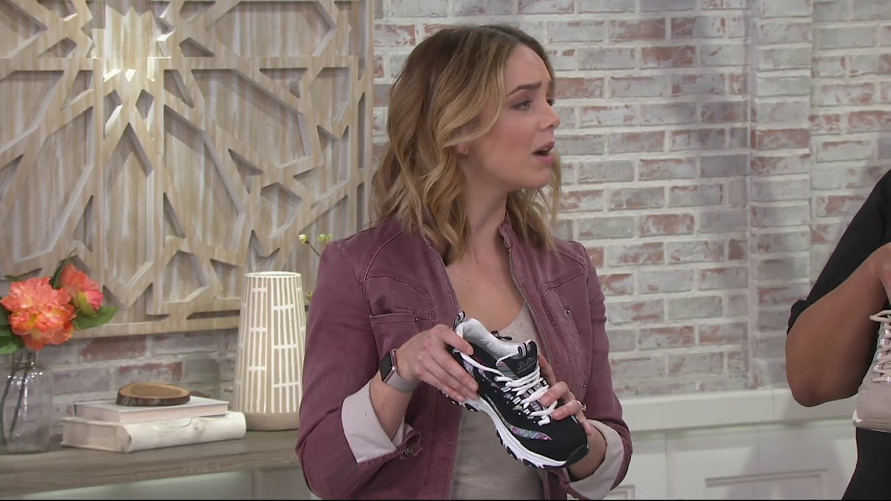 Skechers D'Lites Lace-Up Sneakers