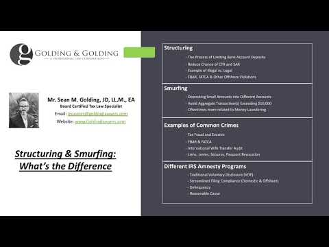 Structuring & Smurfing: Understanding the Different Money Laundering, Evasion and FinCEN Violations.