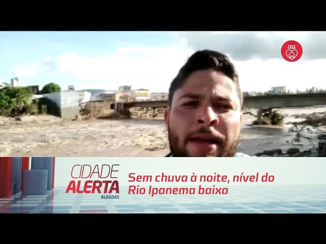 Sem chuva à noite, nível do Rio Ipanema baixa e diminui risco de transbordo