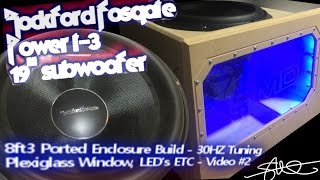 massive subwoofer massive ported box build rockford fosgate power t3 19 first play video 2