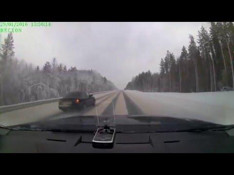До гонял на трассе М8. Архангельская область.