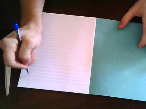 как сделать словарь из обычной тетради