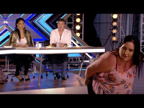 She Got Simon's Name Tattoo On Her Back, Watch Her Impress Him   Audition 1   The X Factor UK 2017