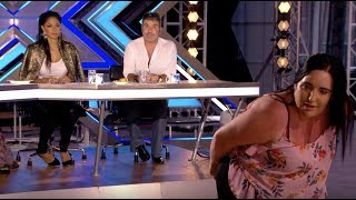She Got Simon's Name Tattoo On Her Back, Watch Her Impress Him | Audition 1 | The X Factor UK 2017