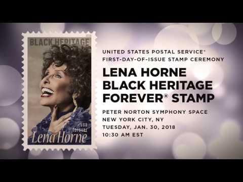 USPS - Lena Horne / Black Heritage Forever® Stamp FDOI