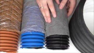 видео Дренажные трубы с перфорацией: цена, купить, Москва