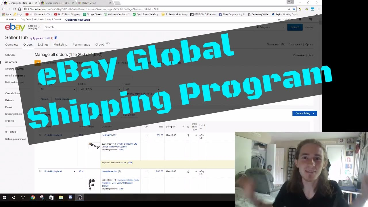 Drop Shipping eBay - eBay Global Shipping Program GSP Questions and Concerns