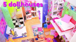 5 DIY Miniature Dollhouses ~ Kitchen, Bathroom, etc.