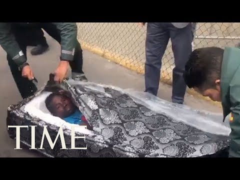 Two Migrants Were Discovered Inside Mattresses Trying To Cross The Spanish Border | TIME