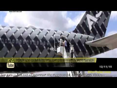 Airbus displayed its A350 aircraft at Bole International Airport