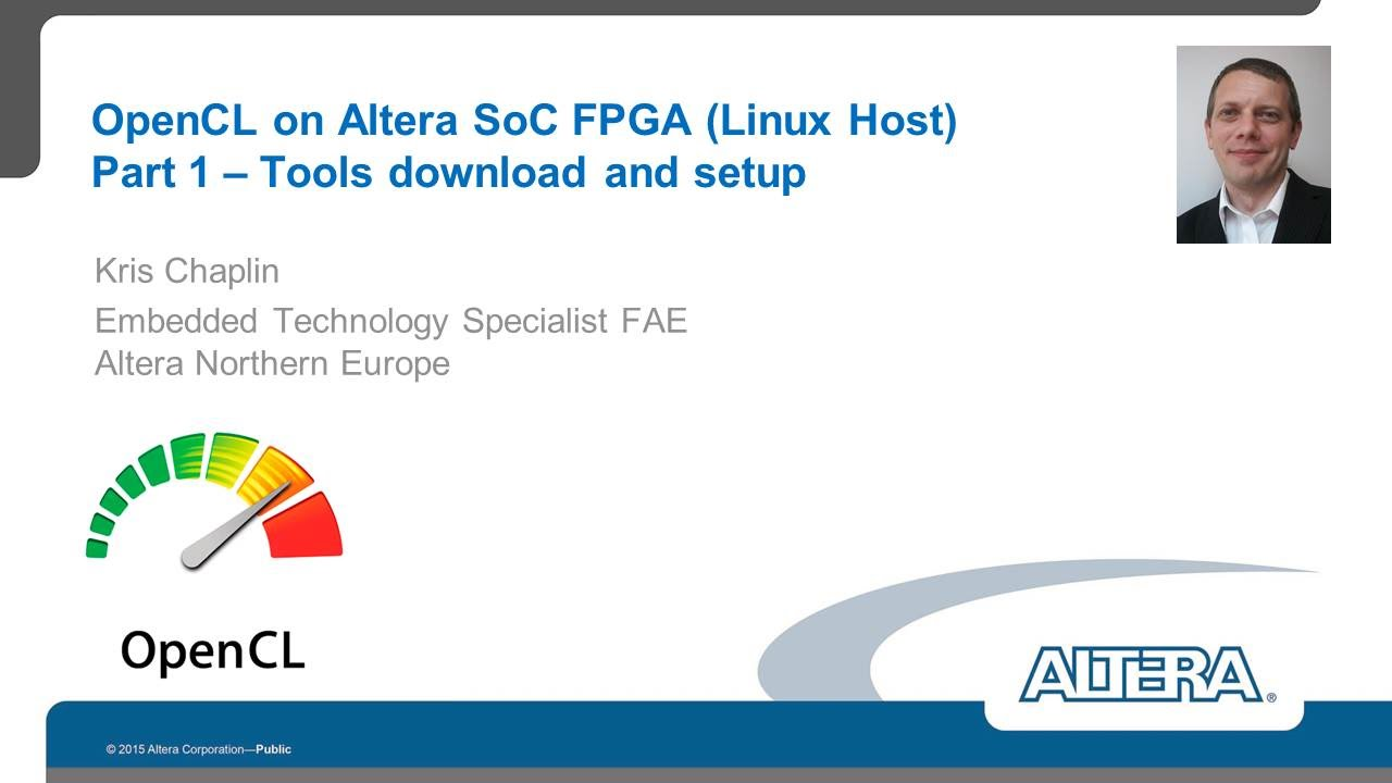 OpenCL on Altera SoC FPGA (Linux Host) – Part 1 – Tools download and setup