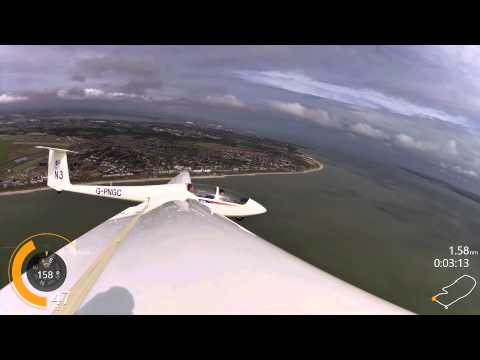 Glider Winch launch flight at Lee on the Solent PNGC