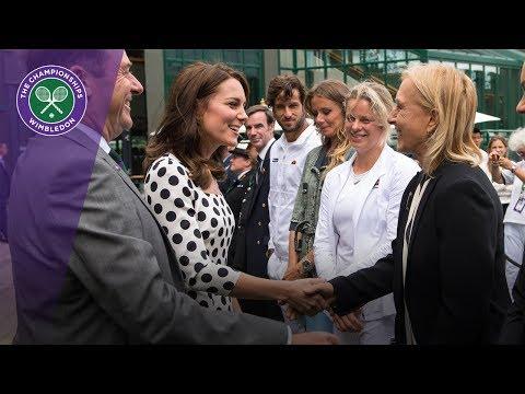 Księżna Kate na spotkaniu z tenisistkami