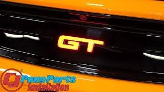2015-2019 Mustang gets a killer custom look: X-Lume Black GT Decklid Emblem Red Illumination Install