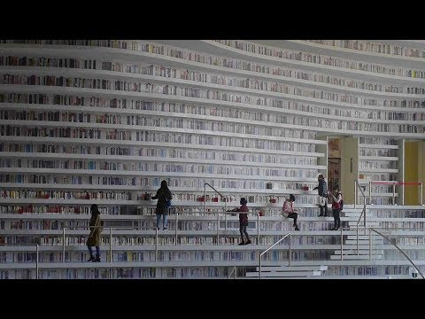 Old school books meet the future in Tianjin's new library