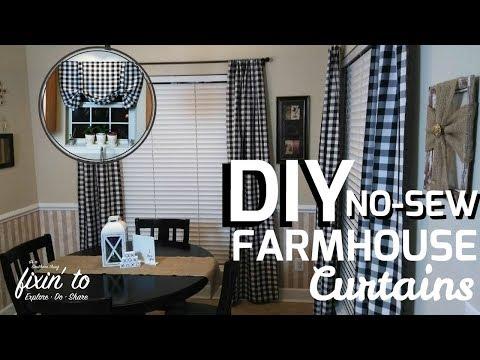 DIY Curtains | No Sew Curtains | Farmhouse Curtain Tutorial