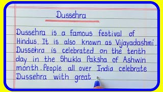 Essay on Dussehra in English/Dussehra Essay in English Writing