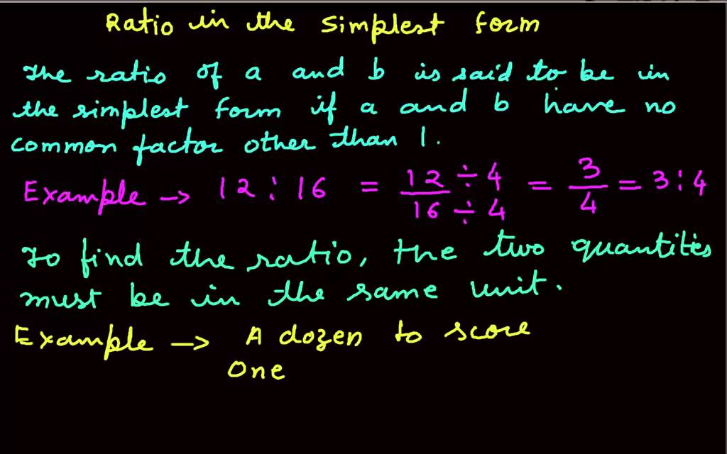 Ratio in the simplest form - YouTube