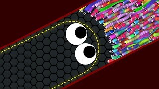 Slither.io Lucky Giant Snake vs 727227 Snakes Epic Slitherio Best Gameplay!