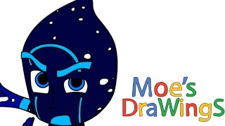 Night Ninja Pj mask How to draw and coloring fun new Hd video for kids