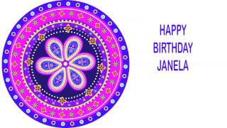 Janela   Indian Designs - Happy Birthday