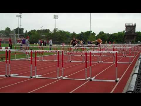 Daniel Gooris 110 hurdles at MVC Outdoor Champions...