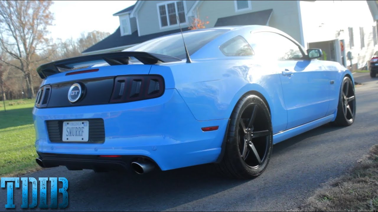 2015 Mustang Wheels >> Smurrf Gets New Shoes!-551C Wheels and Tires Install - YouTube