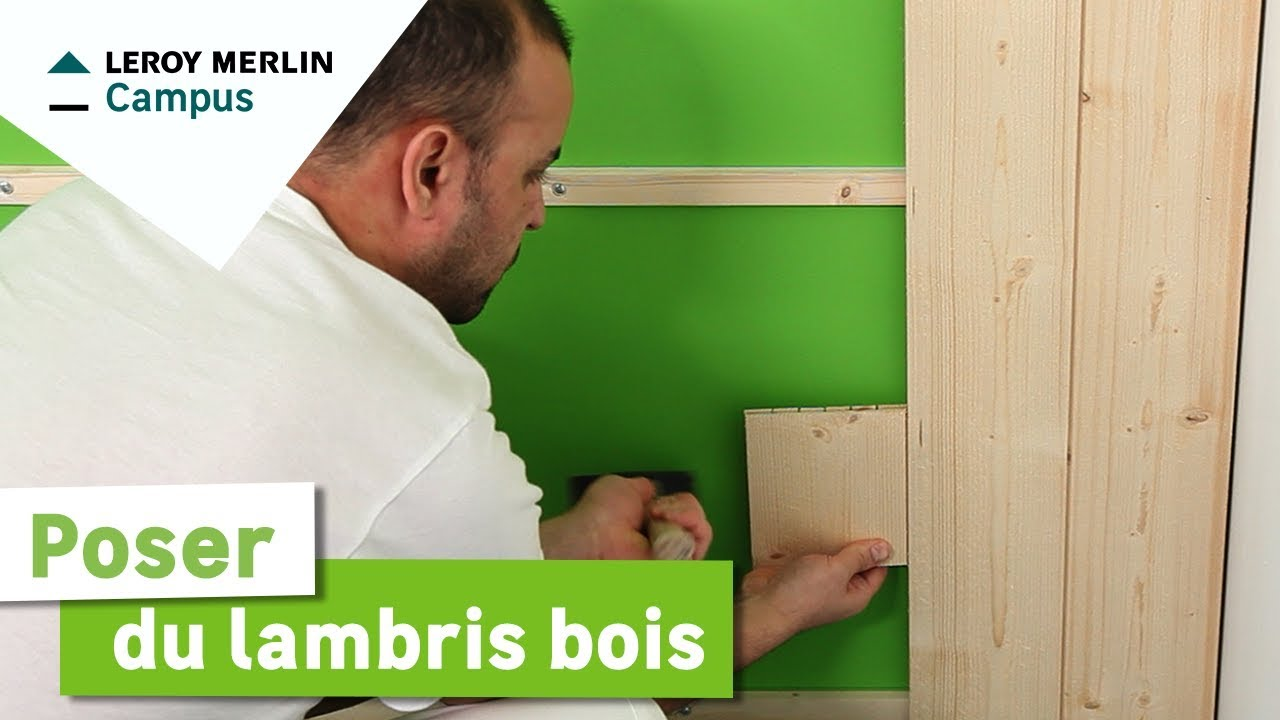 comment poser du lambris bois leroy merlin youtube. Black Bedroom Furniture Sets. Home Design Ideas