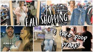 Picking out Fall Wardrobe for Husband + Hilarious Fake Poop Prank!!