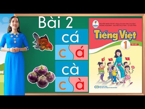Tiếng việt lớp 1 sách cánh diều - Bài 2 |Learn vietnamese |Bảng chữ cái tiếng việt