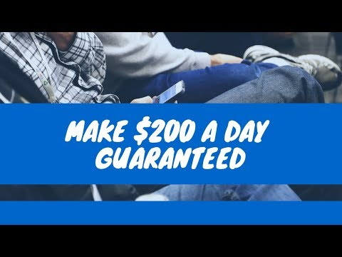 Make 200 A Day Guaranteed - How To Make Money Online As A Teen