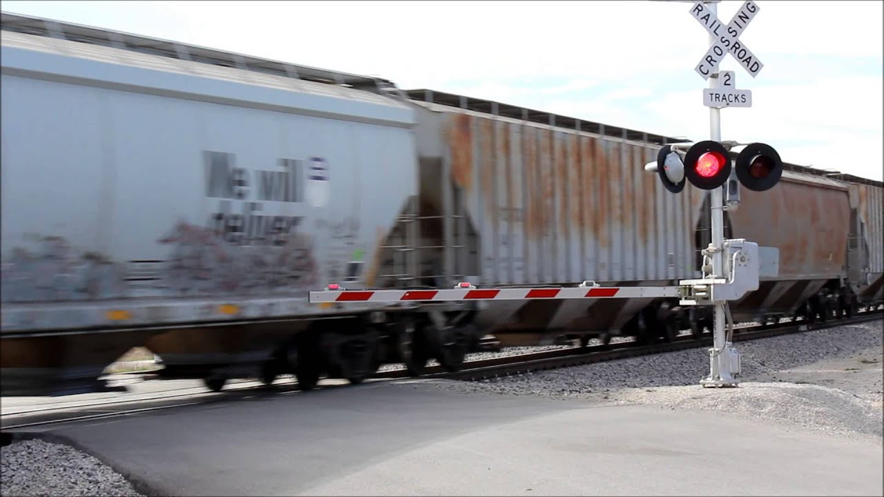 Union Pacific Freight Moves On To Siding In Argyle Tx