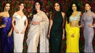 Bollywood Actress HOT Look At Ranveer Deepika Wedding Reception- Kareena, Katrina, Disha, Jhanvi
