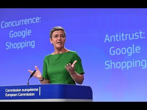 EU fines 2.42 bln euros on Google for...