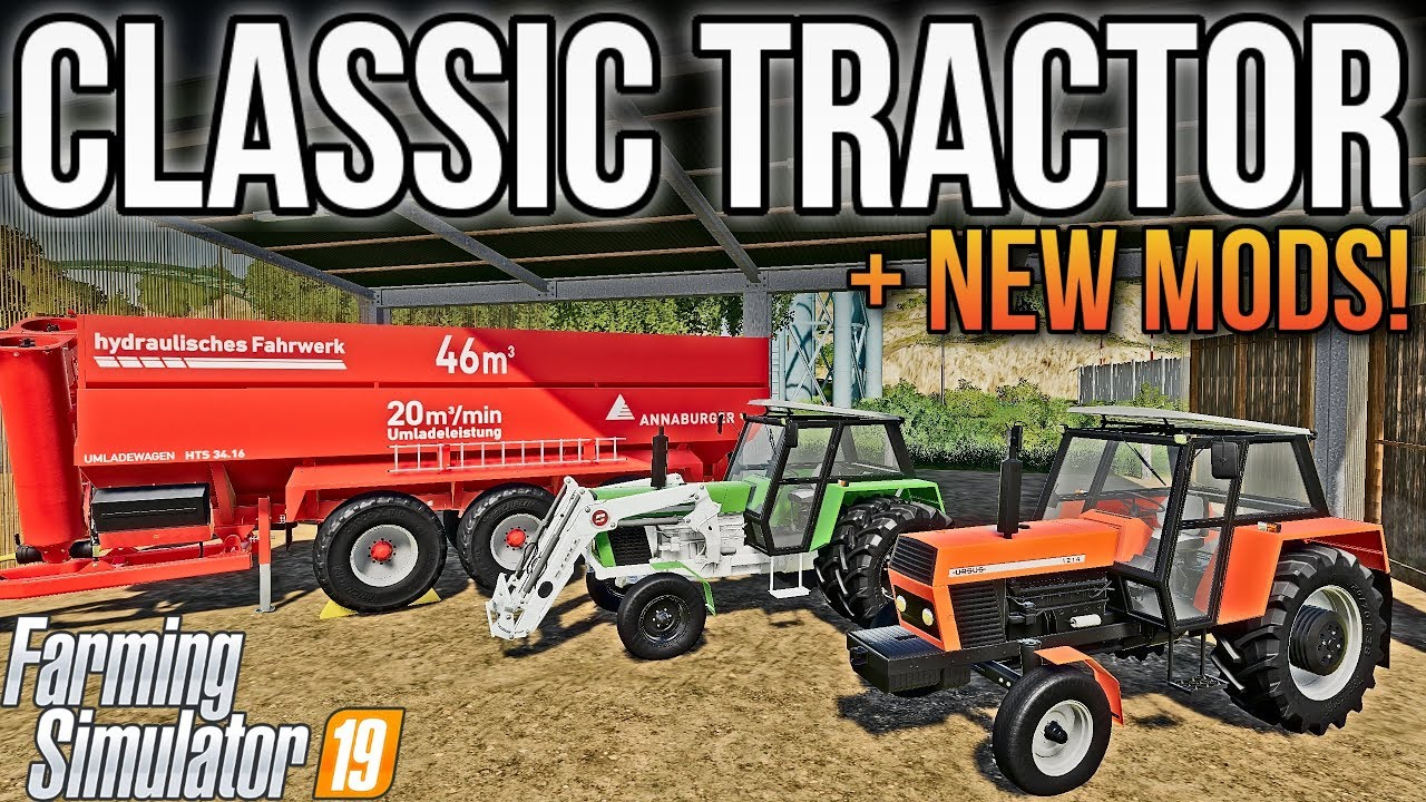 NEW MODS! CLASSIC TRACTORS + BEST AUGER WAGON! | Farming