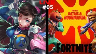 [LIVE #05] FORTNITE / OVERWATCH : TOMATES VS HAMBURGER / DE RETOUR