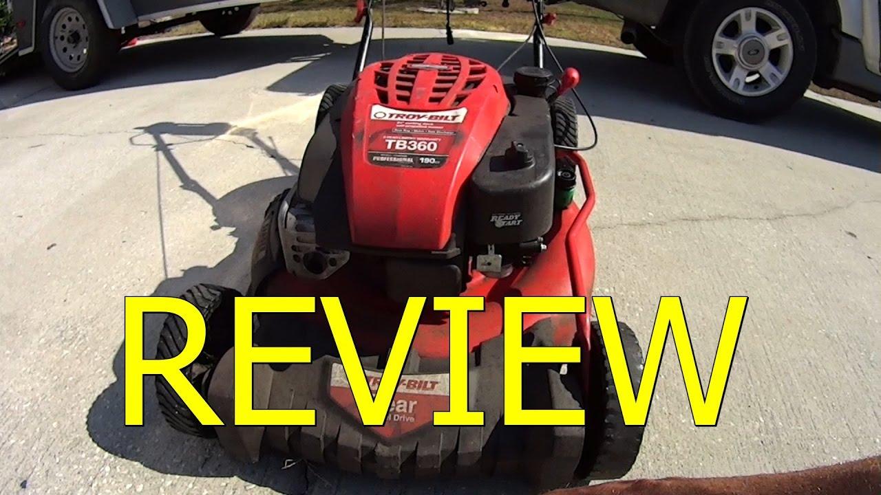 Honest Review - Troy Bilt Tb360 Lawn Mower - Over 400 Lawns Services