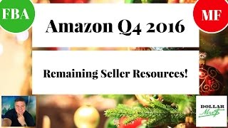 Q4 Remaining Amazon FBA/MF Training and Coaching 2016!   Helpful Resources Amazon Online Sellers!