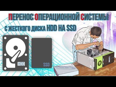 Перенос операционной системы с жесткого диcка HDD на SSD