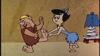Barney Rubble Foot Tickled By Betty