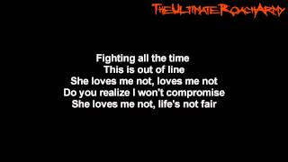 Papa Roach - She Loves Me Not {Lyrics on screen} HD