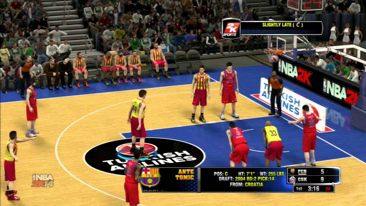 nba 2k14 euro league barcelona vs moscow gameplay youtube