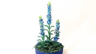 Мастер класс Миниатюрная Лаванда из бисера Diy Craft Бисероплетение❤️️ Beaded lavender flower