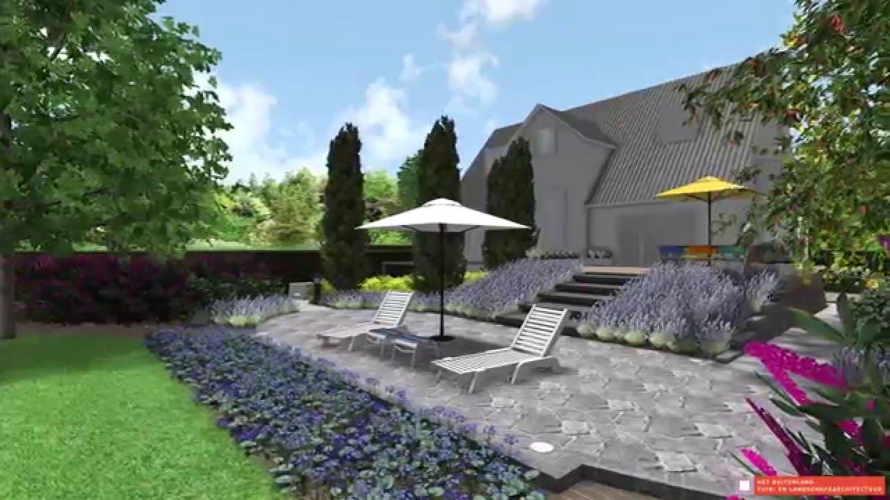 Tuinarchitect nijmegen hoe je een verhoogd terras verbindt met een lage - Dek een terras met tegels ...