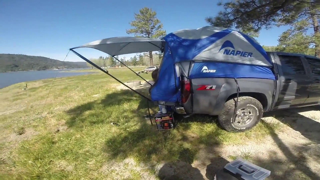 Truck Tent Camping - Chevy Colorado Lake Hemet