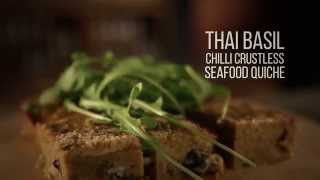 Thai Basil Chilli Crustless Seafood Quiche