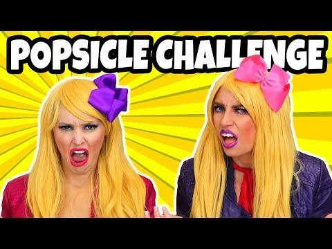 Popsicle Challenge with the Two Veronicas. Totally TV