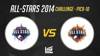 Team Ice vs Team Fire - Pick 10 Challenge - All Star 2014