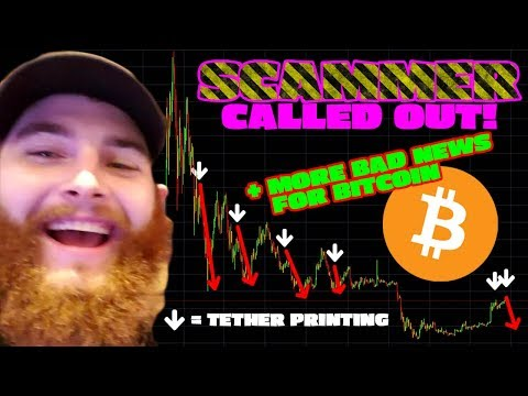 🛑 SCAMMER CALLED OUT 🛑 Tether Printing Confirms $BTC Price Drop 😱😱😱