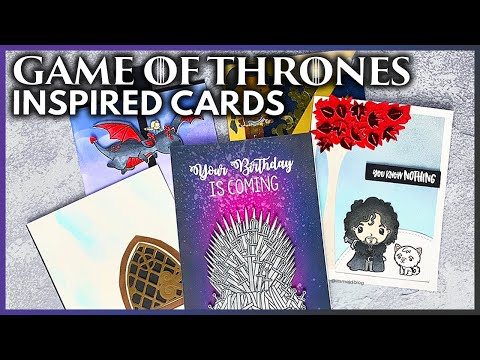5 DIY Game Of Thrones Inspired Cards Any Fan Would Love